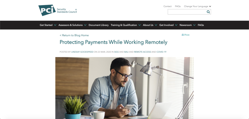 Protecting Payments Working Remotely